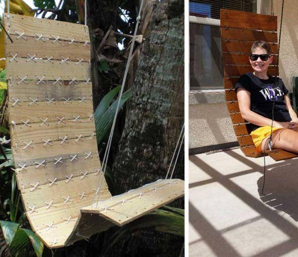 DIY : Fabriquez un fauteuil suspendu en bois de palettes