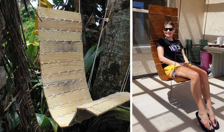 tuto un fauteuil suspendu diy fabriquer un si ge suspendu avec des palettes. Black Bedroom Furniture Sets. Home Design Ideas