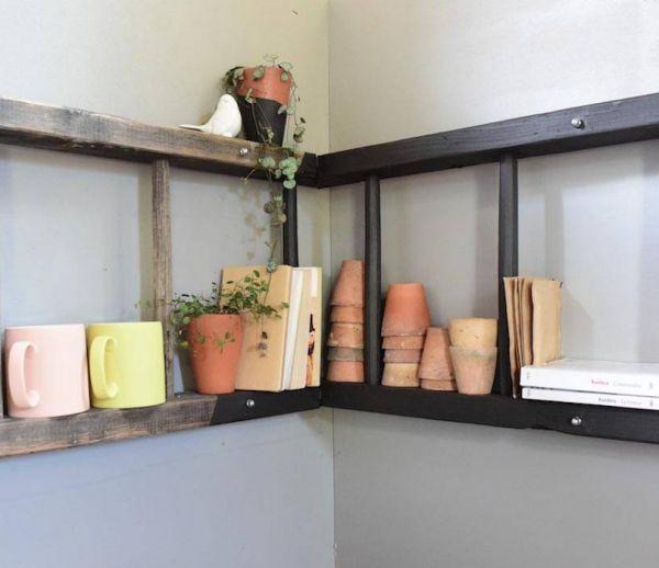 DIY : Transformez une échelle en étagère