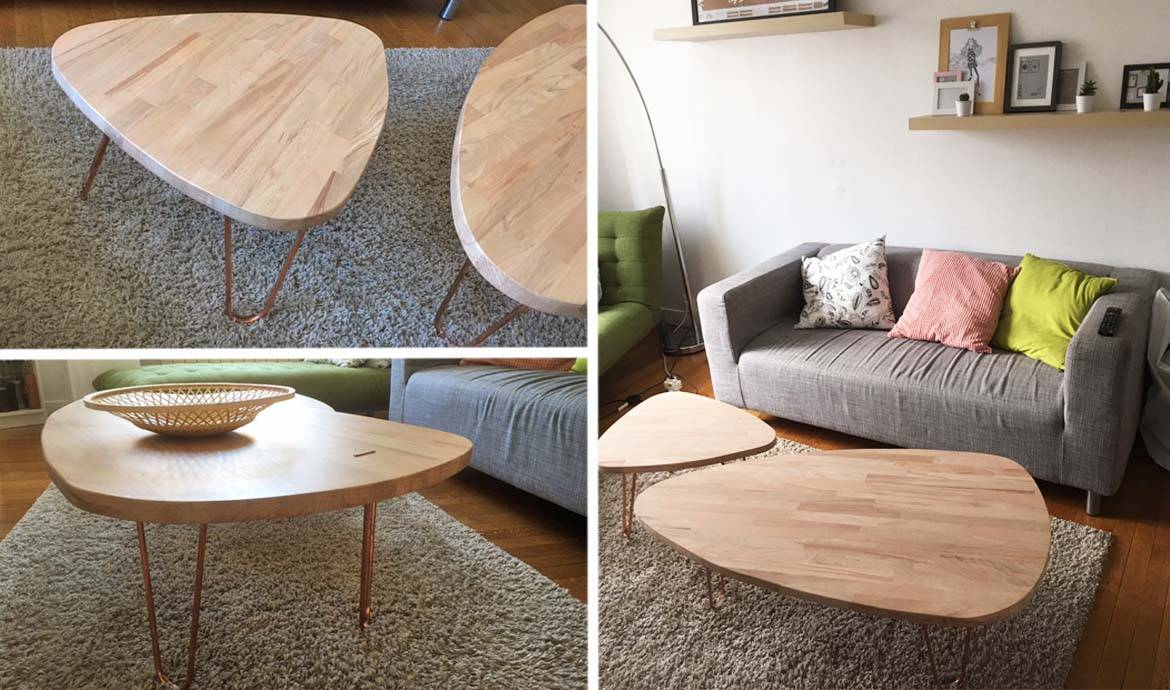 Tuto tables basses gigognes et scandinaves tables - Fabriquer pied de table ...