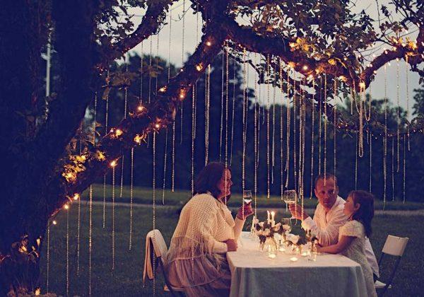 Choisir l\'éclairage extérieur pour dîner dans le jardin - Éclairer ...