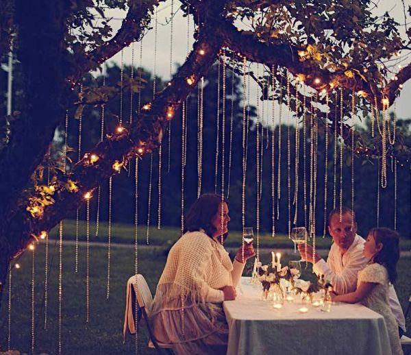 Illuminer son dîner dans le jardin : mode d'emploi