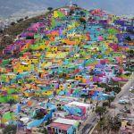 El macromural de pachuca au Mexique, par le collectif Germen Crew.