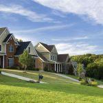 La plupart des maisons aux Etats-Unis n'ont pas de clôture.