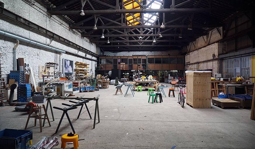 L'atelier de Maximum, à Ivry-sur-Seine.