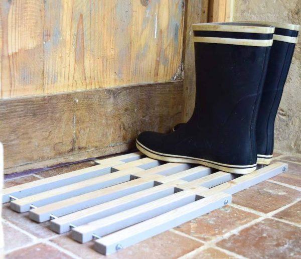 DIY : un paillasson en bois design et fait-maison