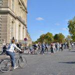 Quai des Tuileries à Paris, lors de la journée sans voiture, dimanche 27 septembre 2015.
