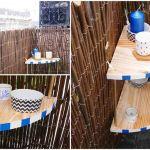 Une étagère de balcon, du plus bel effet, très simple à réaliser.
