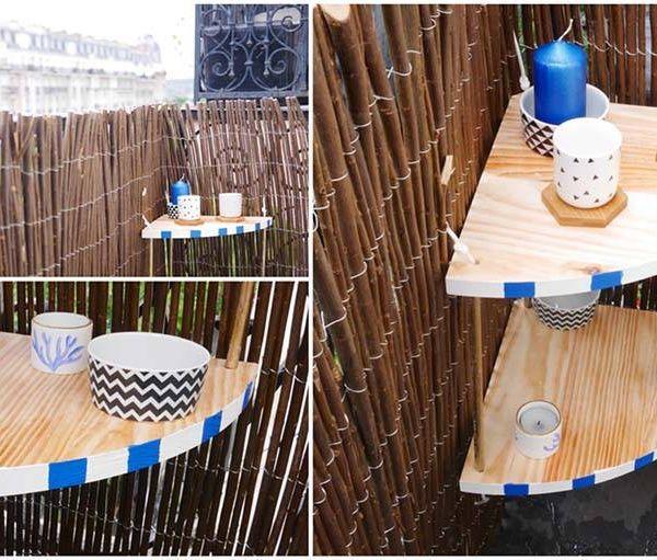 DIY : l'étagère pour balcon, ambiance