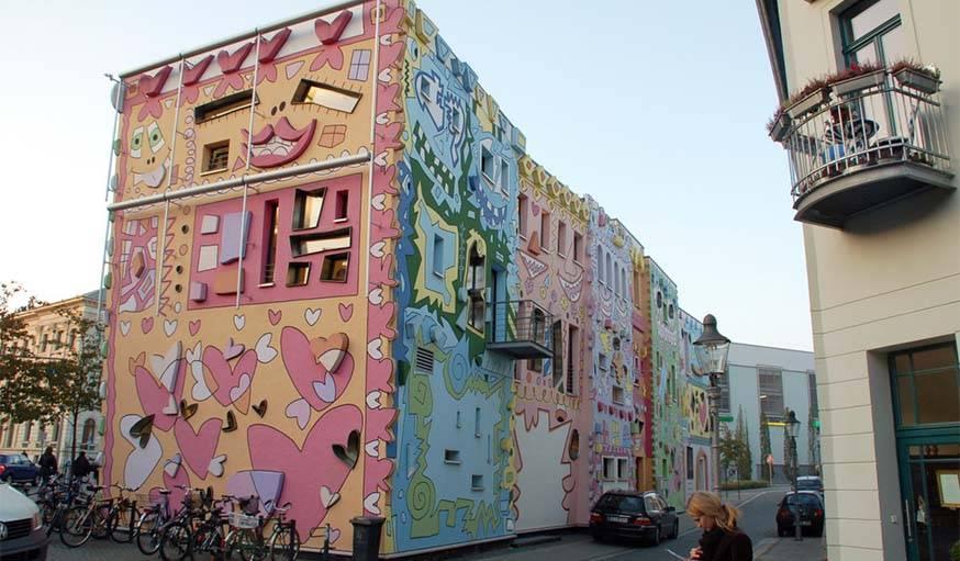 Rizzi House à Brunswick en Allemagne.