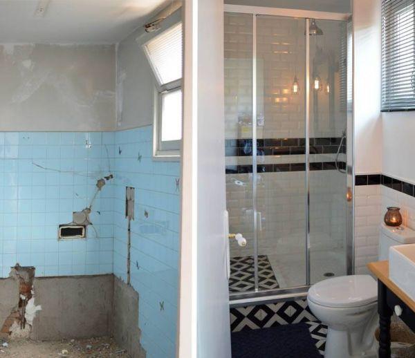 Avant / Après : look rétro pour salle de bains très chic