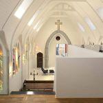 Une vue d'ensemble de l'ancienne chapelle