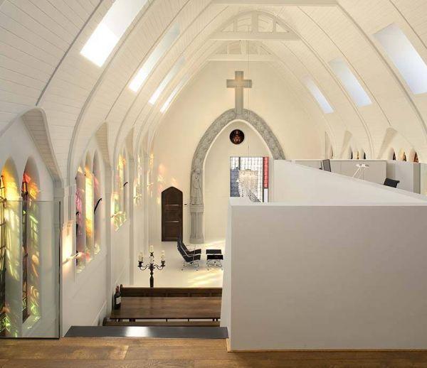 Une extraordinaire reconversion d'église aux Pays-Bas