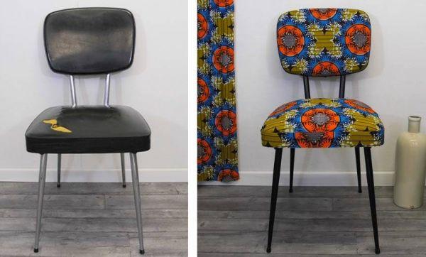 DIY : Relooker une chaise avec du tissu wax