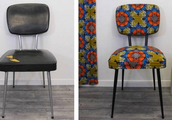 DIY Déco Relooker une chaise avec du tissu wax