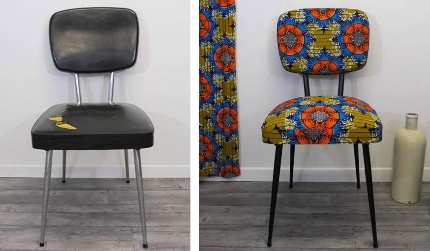 Relooker Une Chaise En Bois - DIY Déco Relooker une chaise avec du tissu wax 18h39 fr