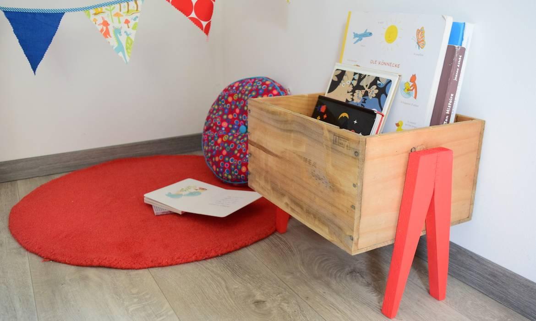 fabriquer un bac livres en caisse vin comment fabriquer un rangement pour les livres. Black Bedroom Furniture Sets. Home Design Ideas