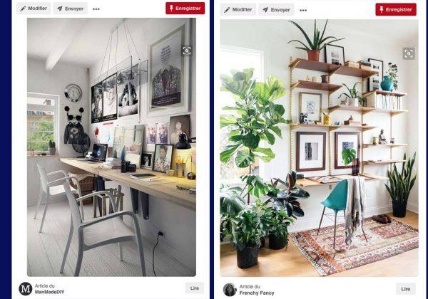 Inspiration déco pour aménager un bureau à la maison les plus