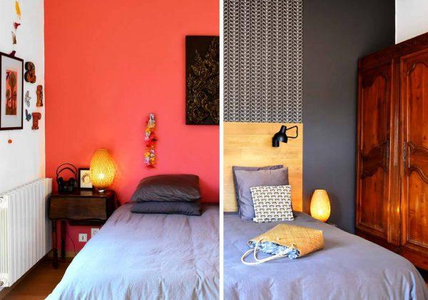 Déco chambre adulte - Avant / Après : oser le gris chic et le papier ...