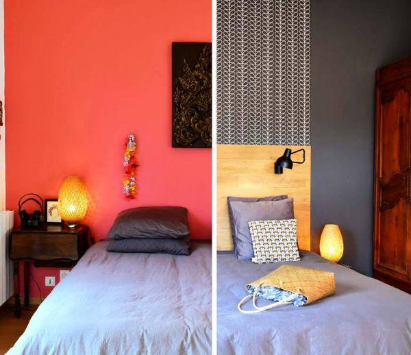 Avant / après : oser le gris chic dans la chambre