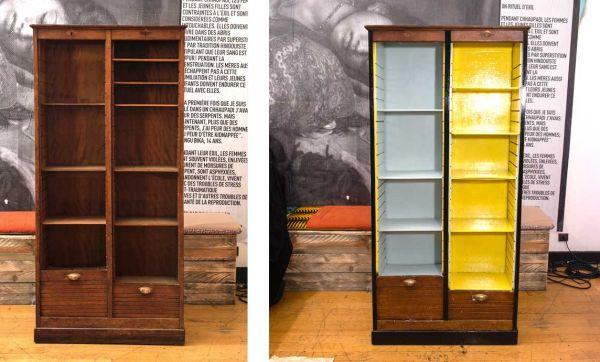 DIY : Relooker une armoire pour la transformer en bibliothèque