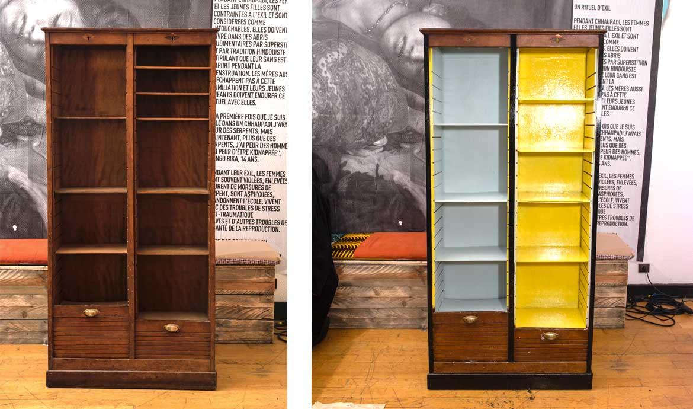 Diy d coration relookez une armoire - Transformer une armoire en bureau ...