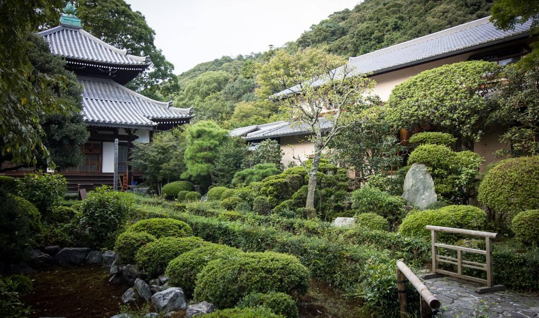 Le jardin japonais d'Azumi San à Kyoto.