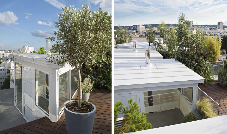 Vue imprenable : des maisons sur le toit d'un immeuble