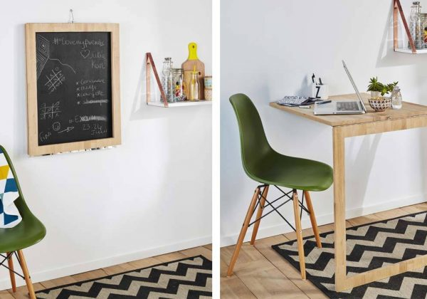 Diy Cette Table D Appoint Escamotable Se Transforme En Tableau