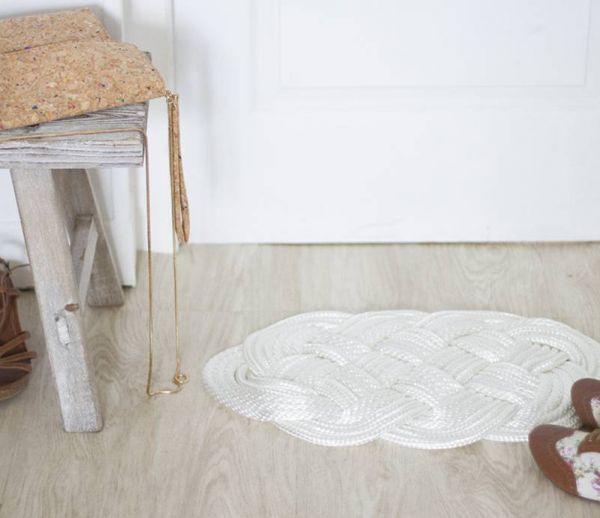 DIY : Fabriquer un tapis tissé pour habiller votre entrée