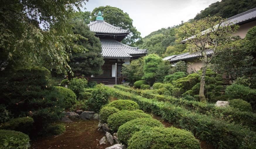 Le jardin japonais est censé représenter le monde et ses couleurs.