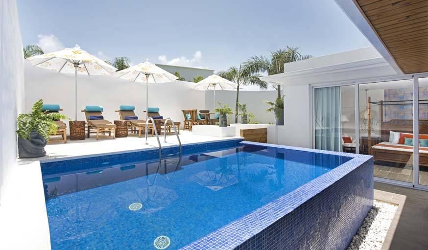 La piscine privée de la maison.