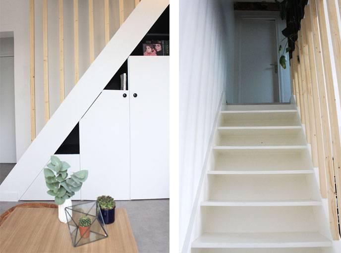 Le nouvel escalier.