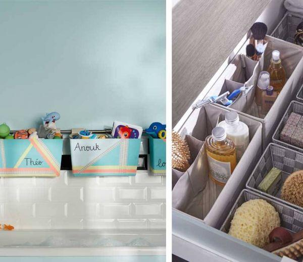 25 idées géniales pour tout ranger dans la salle de bains
