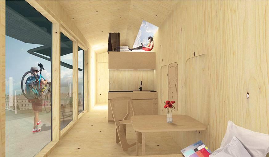 L'intérieur de la cabine.