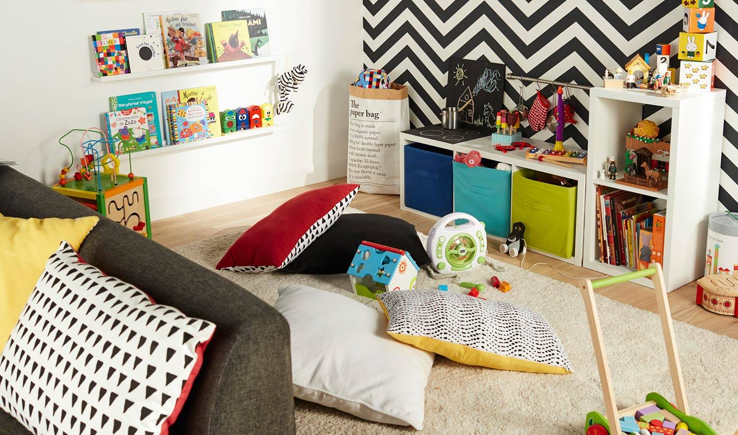 13 id es de biblioth ques pour enfant et de coins lecture. Black Bedroom Furniture Sets. Home Design Ideas