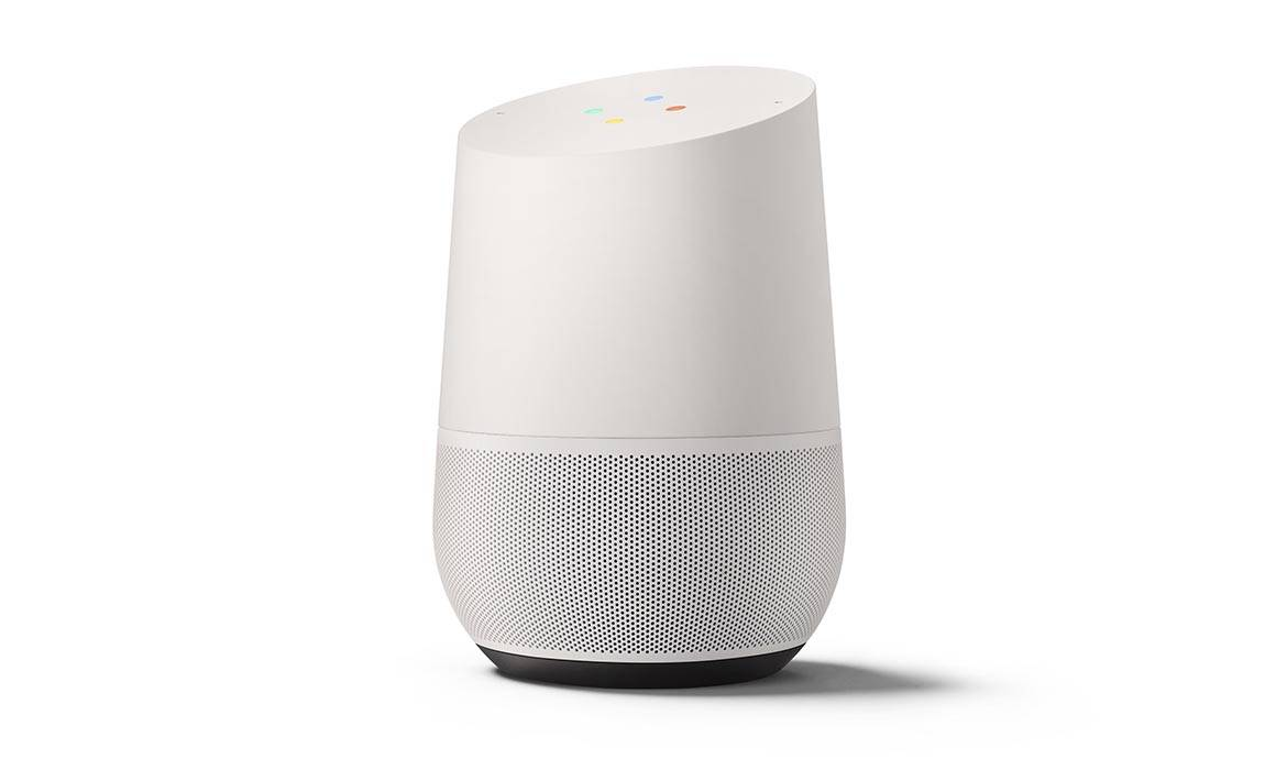 L'assistant personnel vocal Google Home.