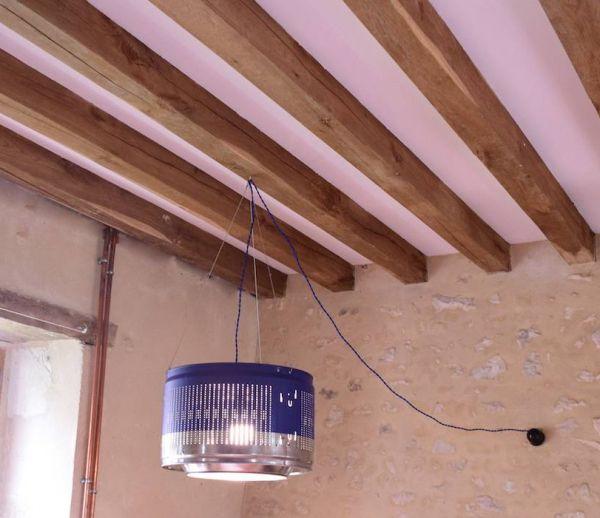 DIY : Fabriquez une lampe industrielle avec un tambour de machine à laver