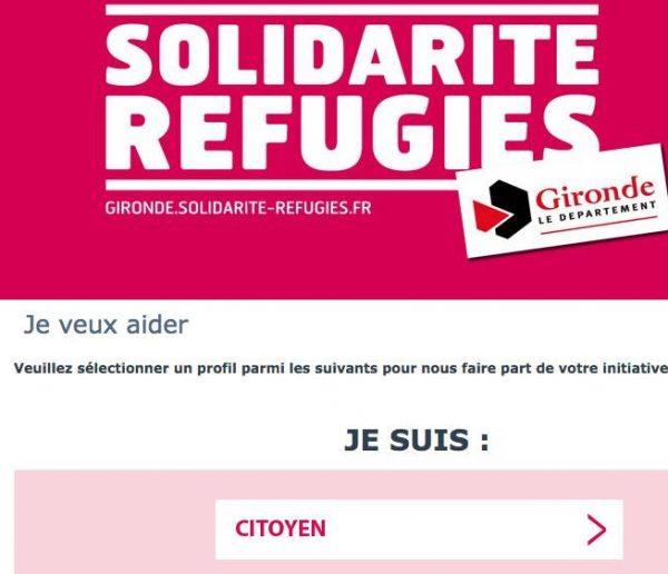 Une plateforme d'aide pour les réfugiés en Gironde