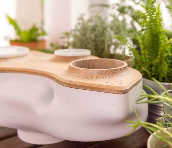 Cette poubelle de table design va vous donner envie de faire du compost
