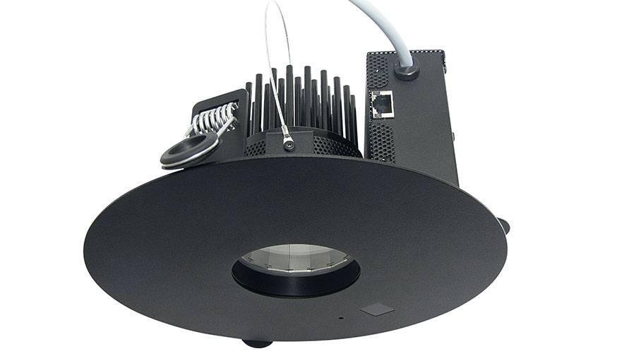 Le luminaire LED dont le dispositif Lifi est caché dans le plafond.