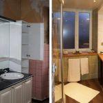 La salle de bains avant et après les travaux.
