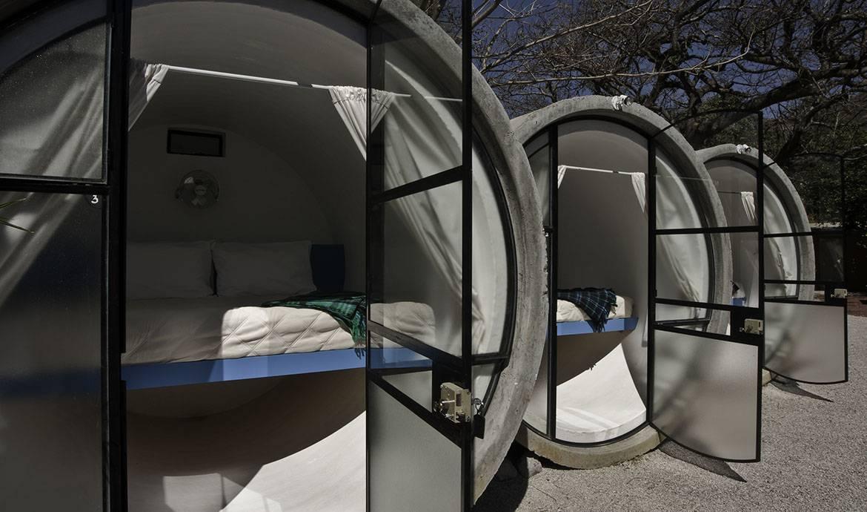 Un hôtel mexicain vous propose  de dormir dans un tube en béton