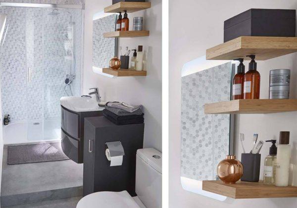 Optimiser une petite salle de bains couloir - Aménager une ...