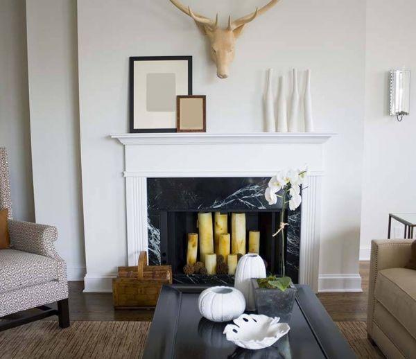 9 idées déco pour une cheminée sans feu