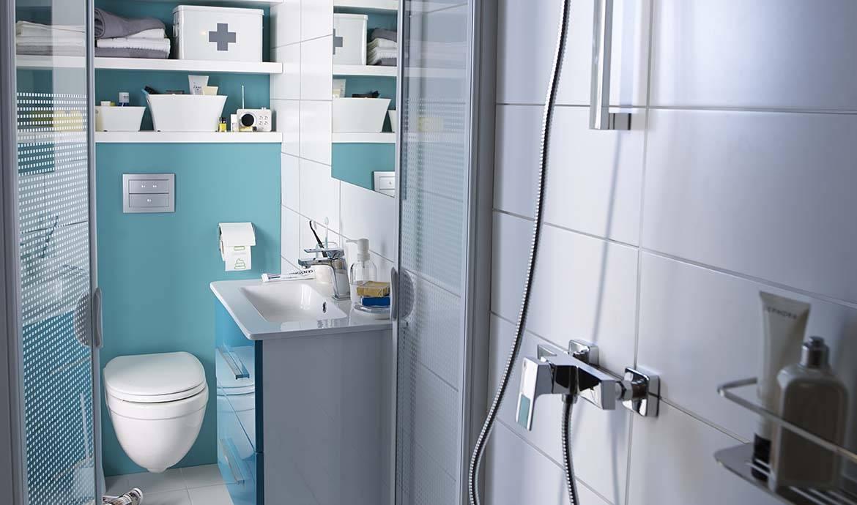 bien am nager une petite salle de bains salle de bain petite mais pratique. Black Bedroom Furniture Sets. Home Design Ideas
