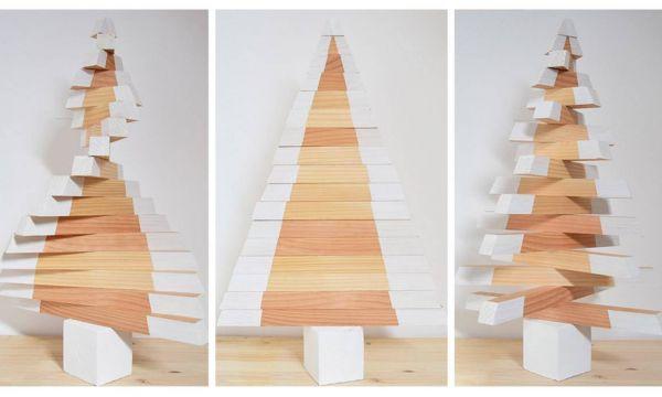 DIY : Fabriquez-vous un joli sapin de Noël en bois
