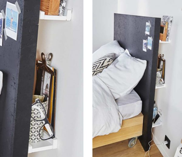 DIY : Fabriquez une tête de lit astucieuse avec des rangements intégrés