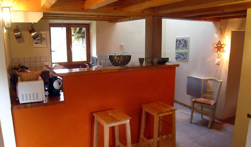 La cuisine de la Roubière.