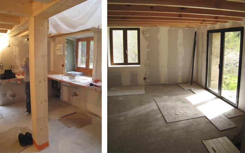 avant apr s transformer une grange en habitation. Black Bedroom Furniture Sets. Home Design Ideas
